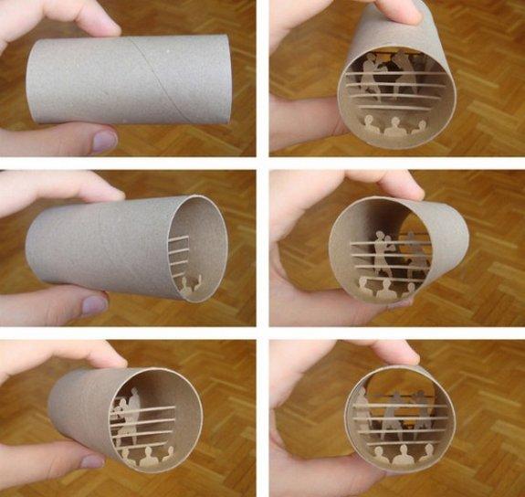 paper cutting toilet rolls 01 in Artistic Paper Cutting of Toilet Paper Rolls