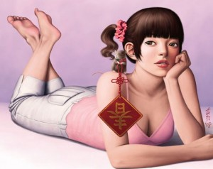 Very Attractive Female Cartoon Characters by Amber Chen