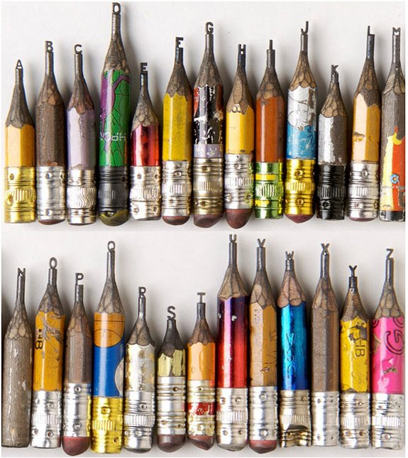 pencil sculptures 01 in Pencil Tip Micro Sculptures By Dalton Ghetti