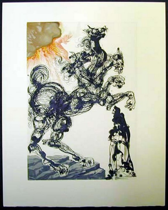salvador dali divine comedy inferno 06 in Salvador Dalis Divine Comedy   Inferno