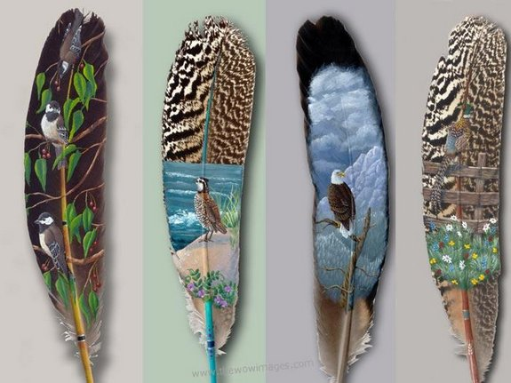 drawings on feather 12 in Drawings on feather? Creative Art Medium