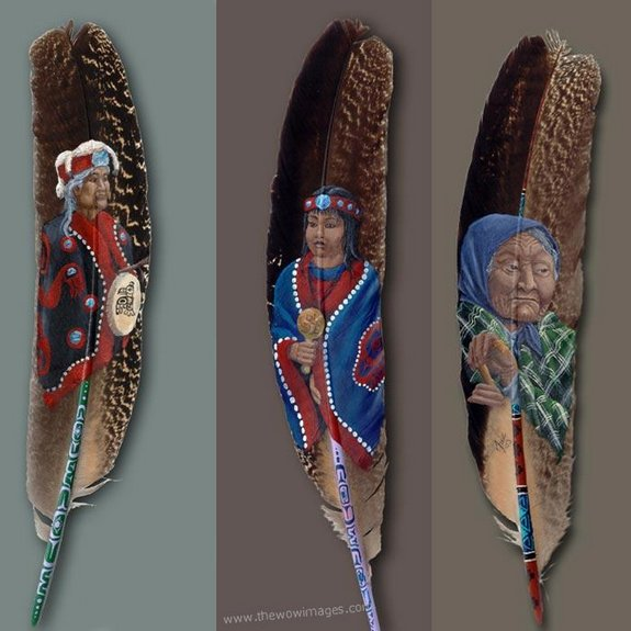 drawings on feather 21 in Drawings on feather? Creative Art Medium