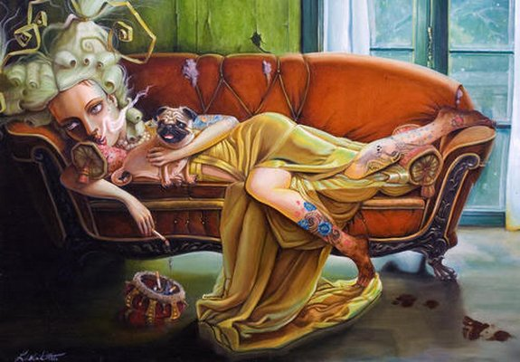 leslie ditto 01 in Amazing Paintings of Utmost Beauty