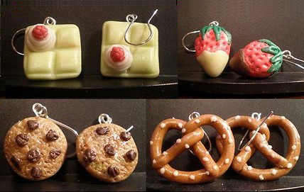 Cheesecake and Other Cake Earrings