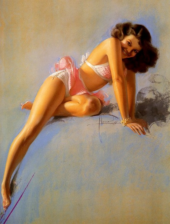 pin up girls 02 in The Best Pin up Girl Paintings