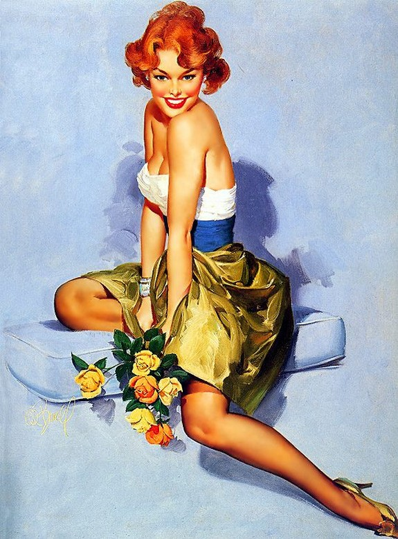 pin up girls 08 in The Best Pin up Girl Paintings
