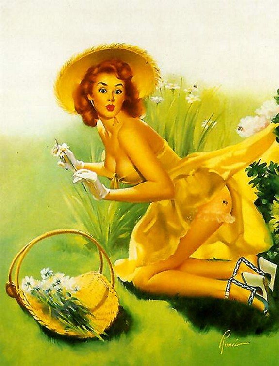 pin up girls 16 in The Best Pin up Girl Paintings