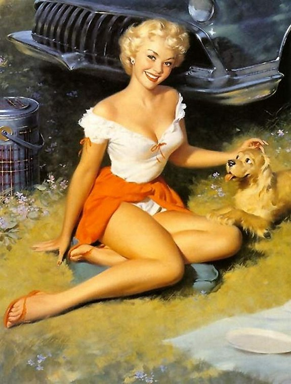 pin up girls 17 in The Best Pin up Girl Paintings