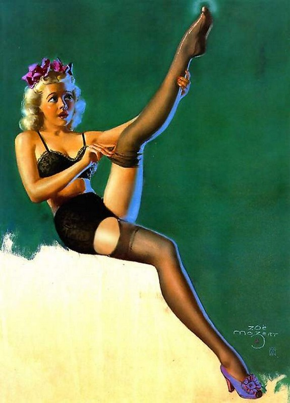 pin up girls 21 in The Best Pin up Girl Paintings