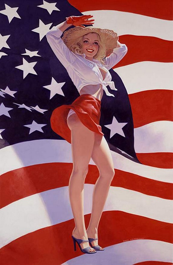 pin up girls 24 in The Best Pin up Girl Paintings