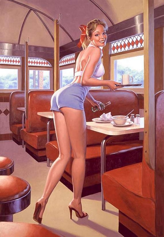 pin up girls 25 in The Best Pin up Girl Paintings