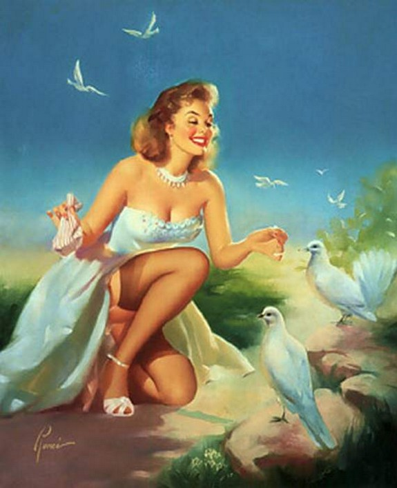 pin up girls 27 in The Best Pin up Girl Paintings