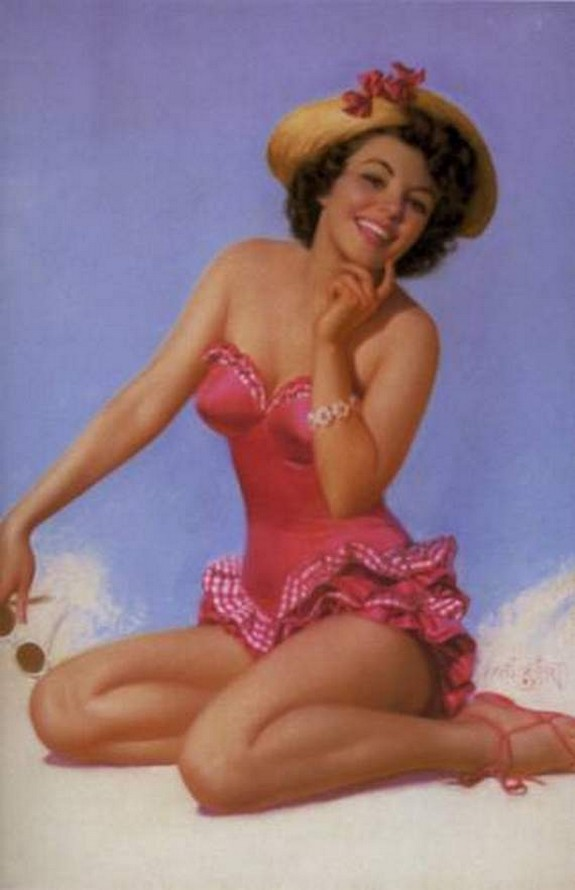 pin up girls 28 in The Best Pin up Girl Paintings