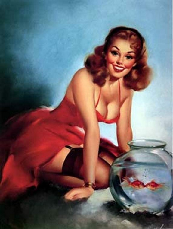 pin up girls 29 in The Best Pin up Girl Paintings