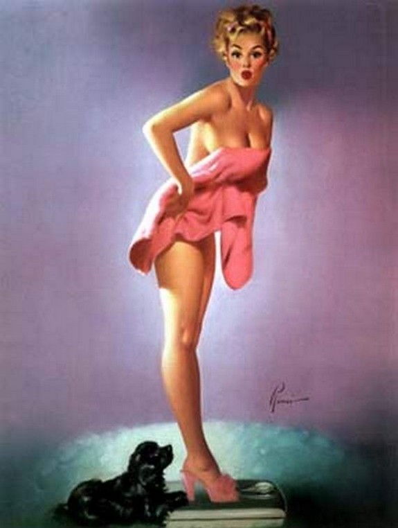 pin up girls 30 in The Best Pin up Girl Paintings