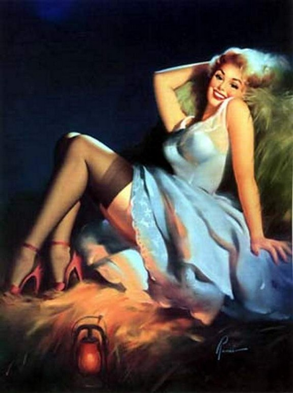 pin up girls 33 in The Best Pin up Girl Paintings