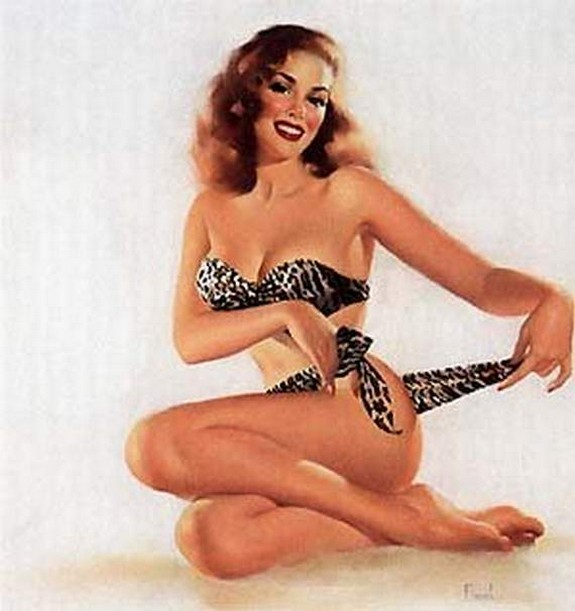 pin up girls 34 in The Best Pin up Girl Paintings