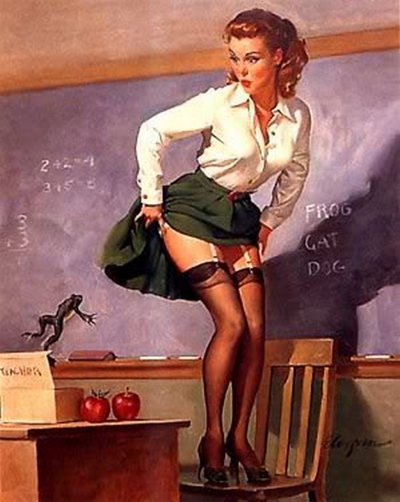 pin up girls 37 in The Best Pin up Girl Paintings