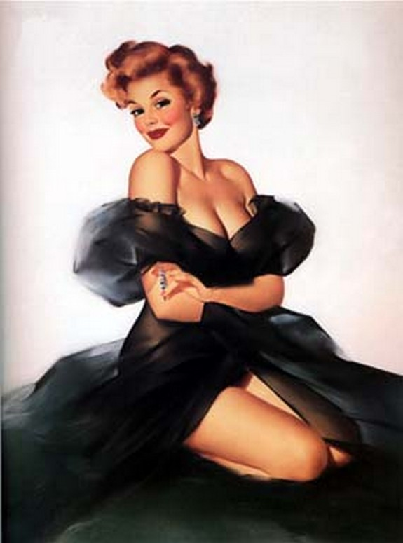 pin up girls 39 in The Best Pin up Girl Paintings