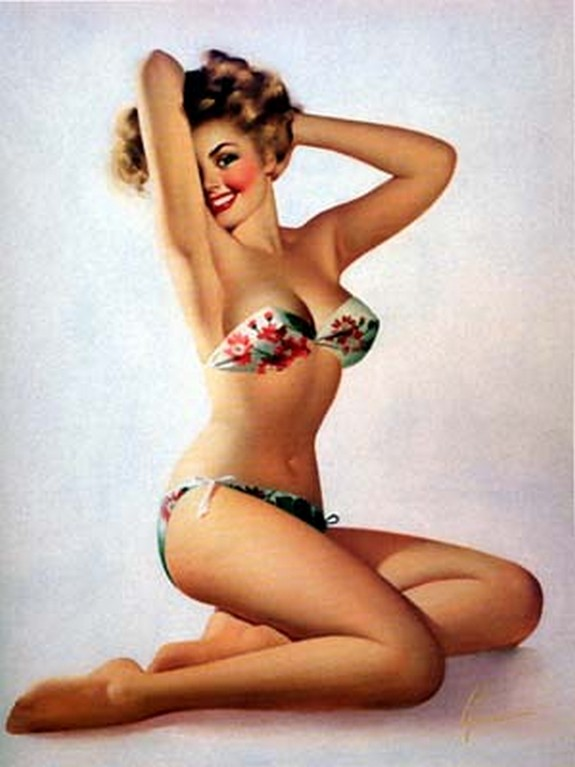 pin up girls 40 in The Best Pin up Girl Paintings