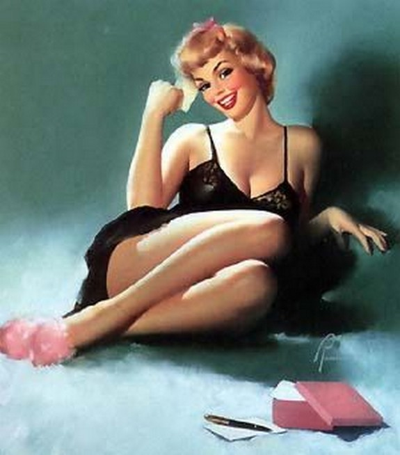 pin up girls 41 in The Best Pin up Girl Paintings
