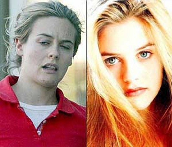 before and after make up 01 in Celebrities Before and After Make up