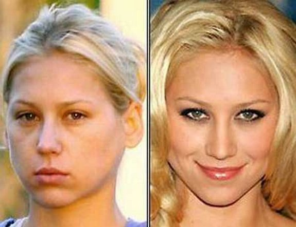 before and after make up 02 in Celebrities Before and After Make up