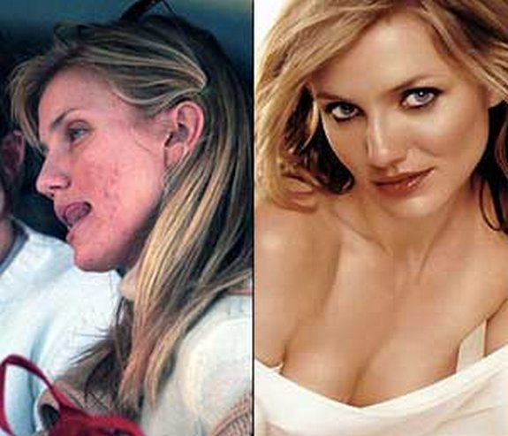 before and after make up 05 in Celebrities Before and After Make up