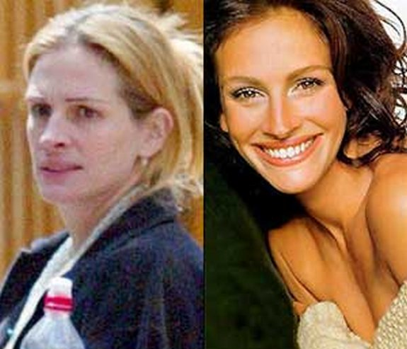 before and after make up 12 in Celebrities Before and After Make up
