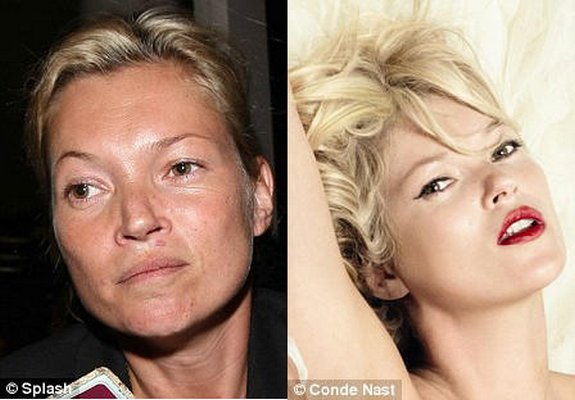 before and after make up 13 in Celebrities Before and After Make up