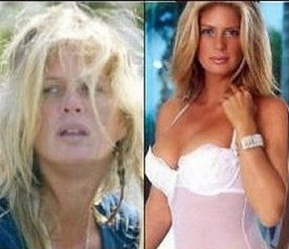 before and after make up 18 in Celebrities Before and After Make up