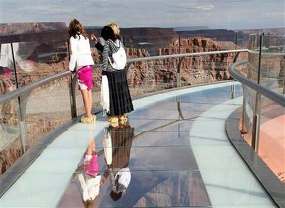 glass bridge above colorado 11 in 4,000 feet glass bridge above Colorado River 