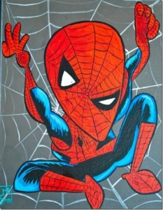 Superheroes Painted in Picasso-Style