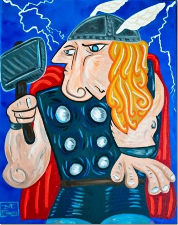 superheroes painted 09 in Superheroes Painted in Picasso Style