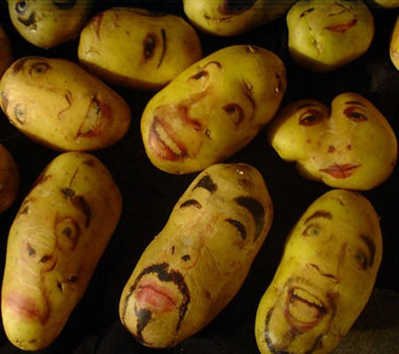 amazing potato art 03 in Potato Face People Are Looking Back At You