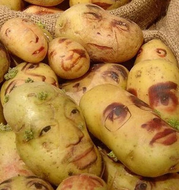 amazing potato art 07 in Potato Face People Are Looking Back At You