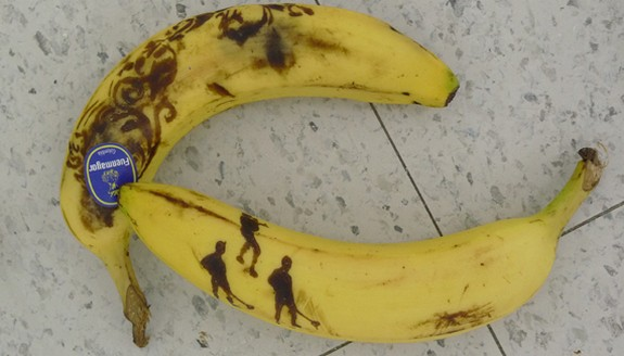 banana art 03 in Banana Drawings: Creative Way of Creating Masterpieces of Art on Vegetables
