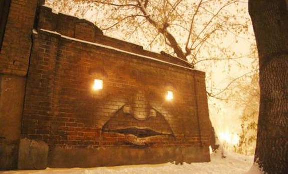 russian street artist raises 01 in Super Cool Building Graffiti Revive Old Buildings