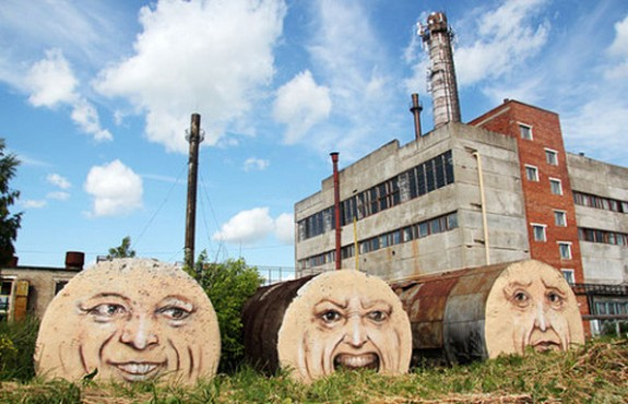 russian street artist raises 10 in Super Cool Building Graffiti Revive Old Buildings