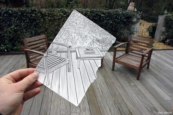 amazingly creative drawing and photography 01 in Top 30 Enhanced Reality Drawings