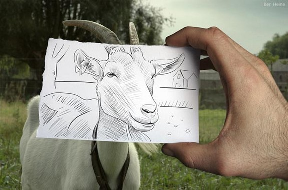 amazingly creative drawing and photography 04 in Top 30 Enhanced Reality Drawings