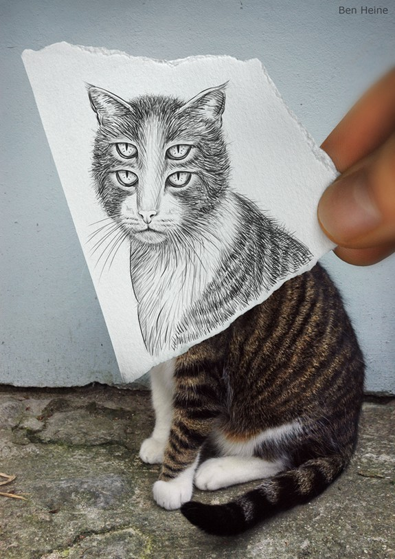amazingly creative drawing and photography 05 in Top 30 Enhanced Reality Drawings