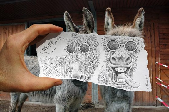 amazingly creative drawing and photography 09 in Top 30 Enhanced Reality Drawings