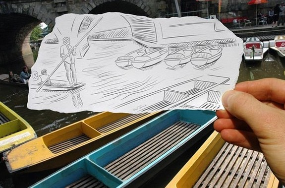 amazingly creative drawing and photography 10 in Top 30 Enhanced Reality Drawings