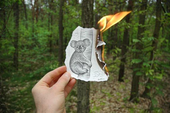 amazingly creative drawing and photography 11 in Top 30 Enhanced Reality Drawings
