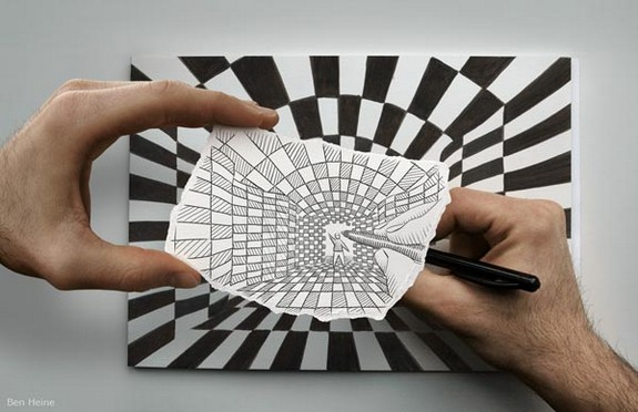 amazingly creative drawing and photography 12 in Top 30 Enhanced Reality Drawings