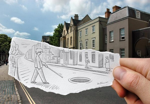 amazingly creative drawing and photography 13 in Top 30 Enhanced Reality Drawings