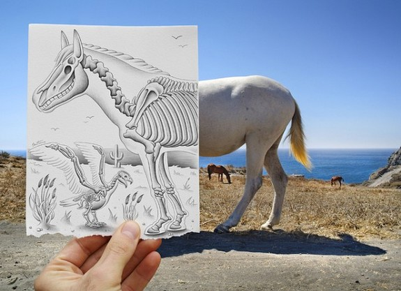 amazingly creative drawing and photography 18 in Top 30 Enhanced Reality Drawings