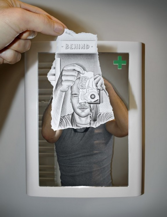 amazingly creative drawing and photography 19 in Top 30 Enhanced Reality Drawings