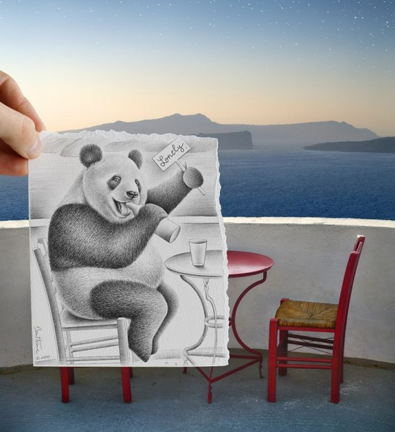 amazingly creative drawing and photography 24 in Top 30 Enhanced Reality Drawings